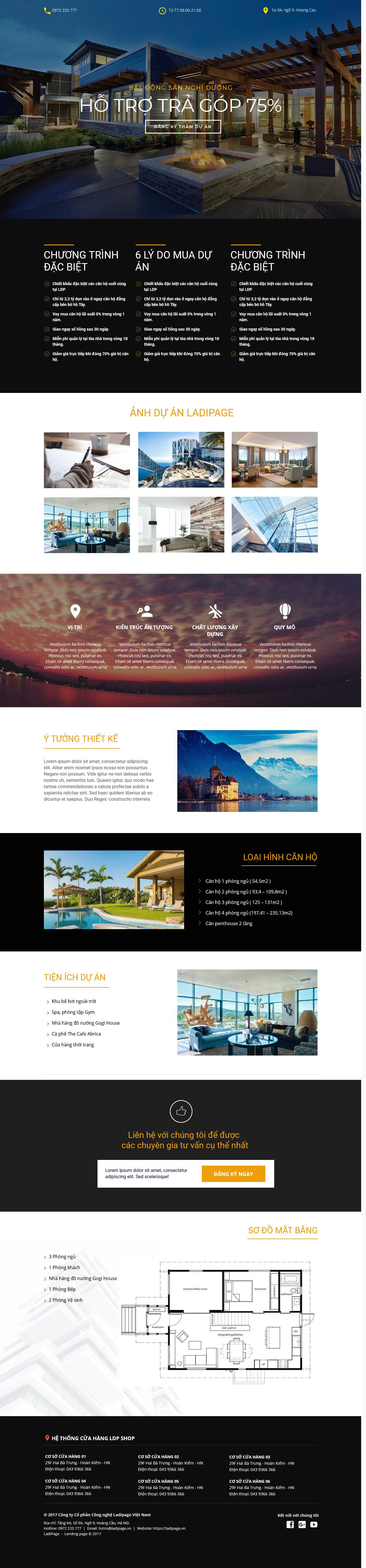 Thiết kế website Thiết kế webiste landingpage bat-dong-san Bất động sản 24