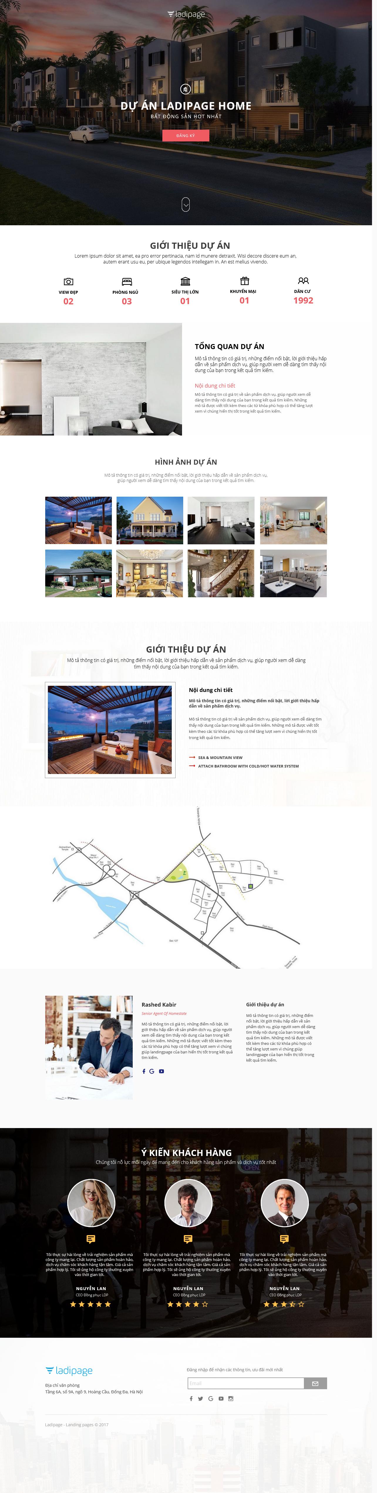 Thiết kế website Thiết kế webiste landingpage bat-dong-san BĐS 01