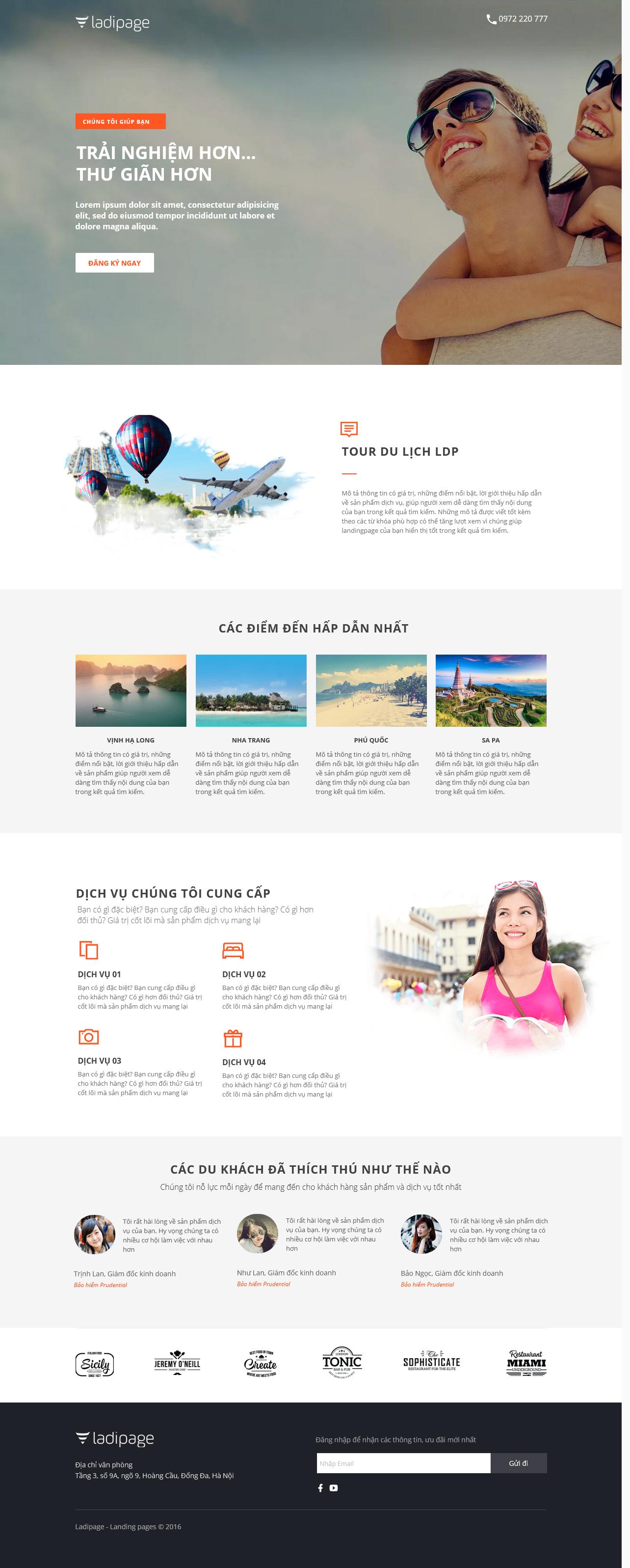 Thiết kế website Thiết kế webiste landingpage du-lich---khach-san---nghi-duong Du lịch 06