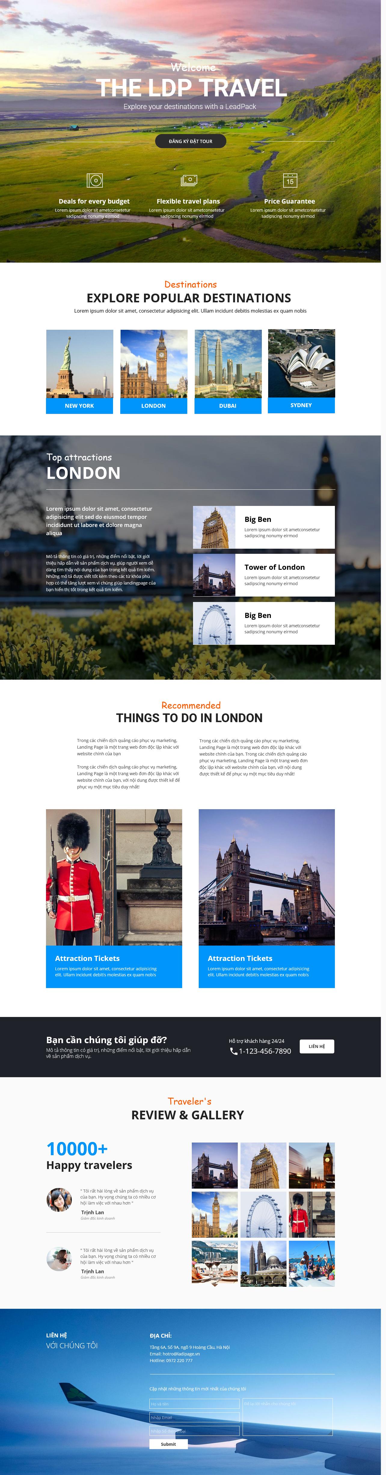 Thiết kế website Thiết kế webiste landingpage du-lich---khach-san---nghi-duong Du lịch 15