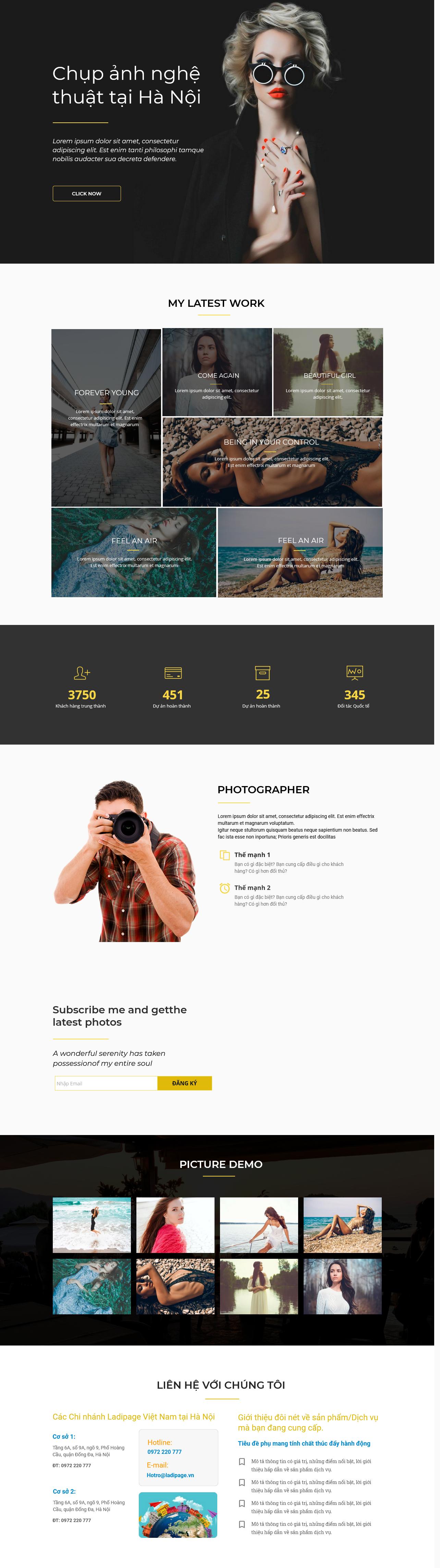Thiết kế website Thiết kế webiste landingpage gioi-thieu-thuong-hieu---cong-ty Cưới, Nhiếp Ảnh 3