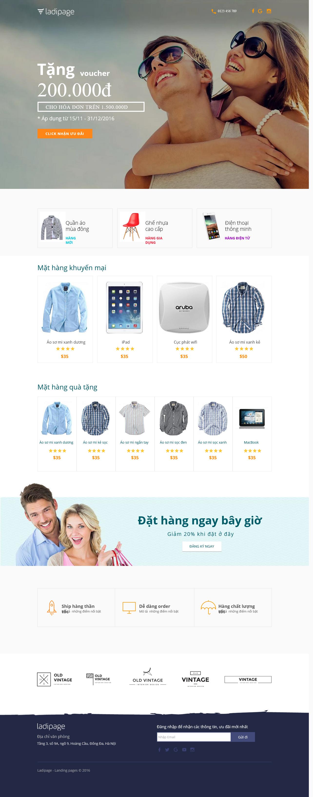 Thiết kế website Thiết kế webiste landingpage giveaway-landing-page Khuyến mại 01