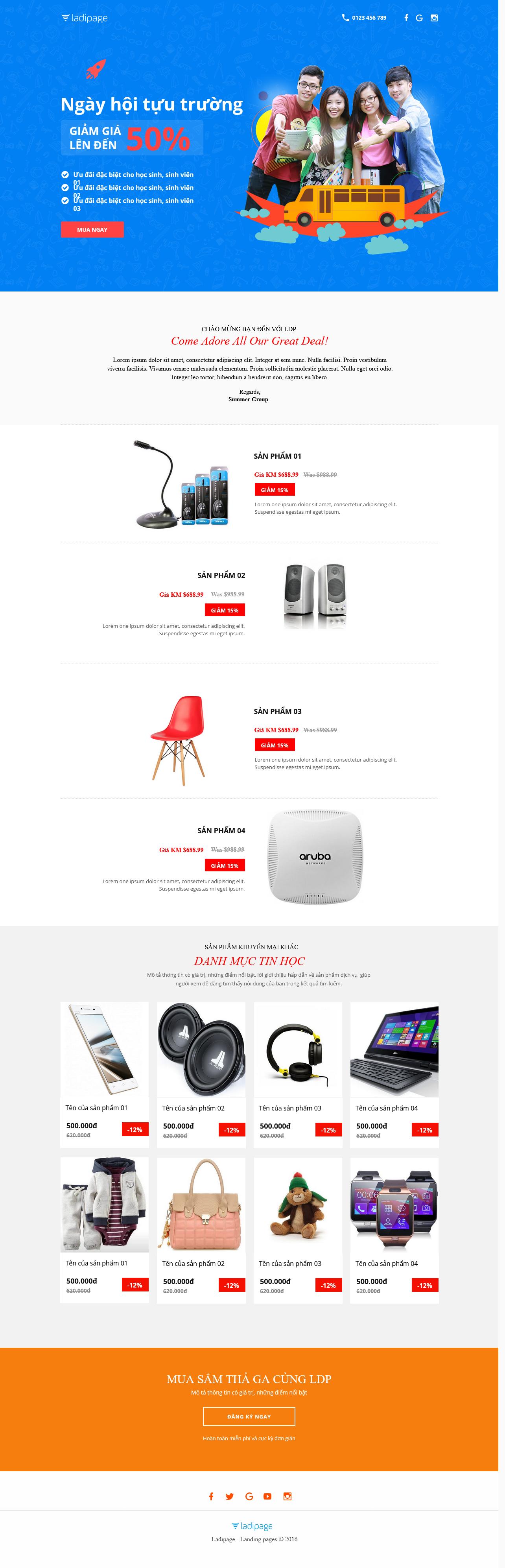 Thiết kế website Thiết kế webiste landingpage giveaway-landing-page Khuyến mại 03