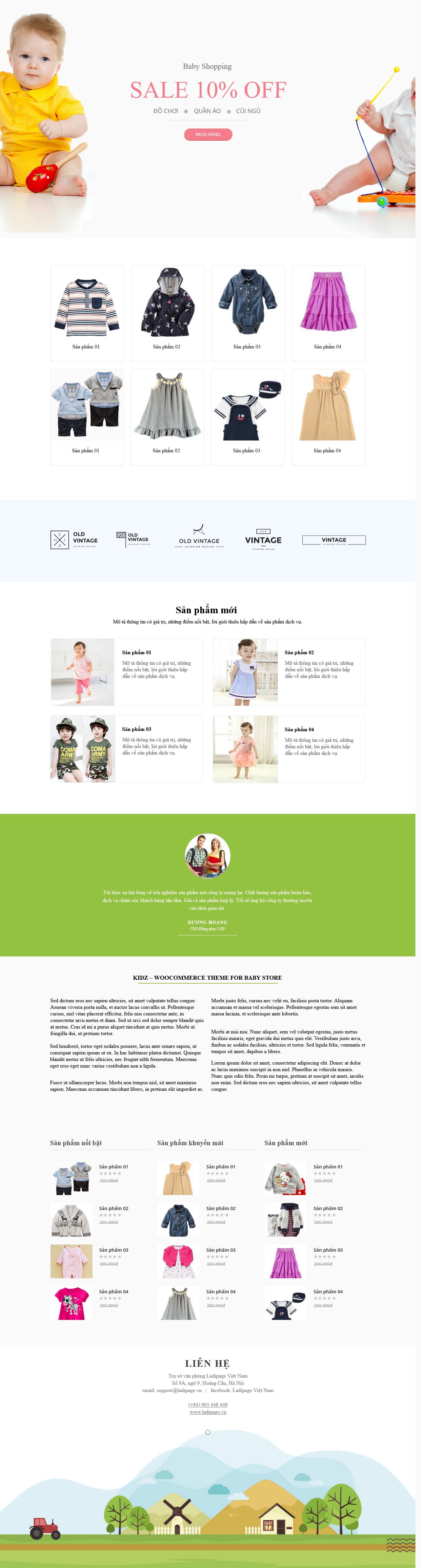 Thiết kế website Thiết kế webiste landingpage me---be Mẹ & Bé 01