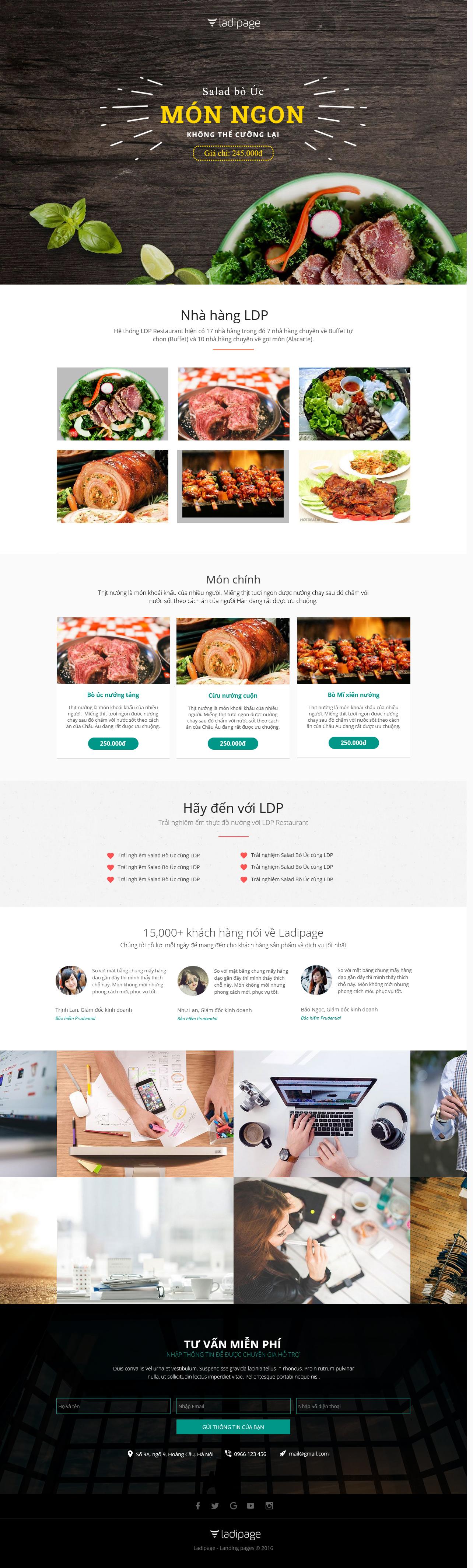 Thiết kế website Thiết kế webiste landingpage nha-hang---quan-an Nhà hàng - Quán ăn 02