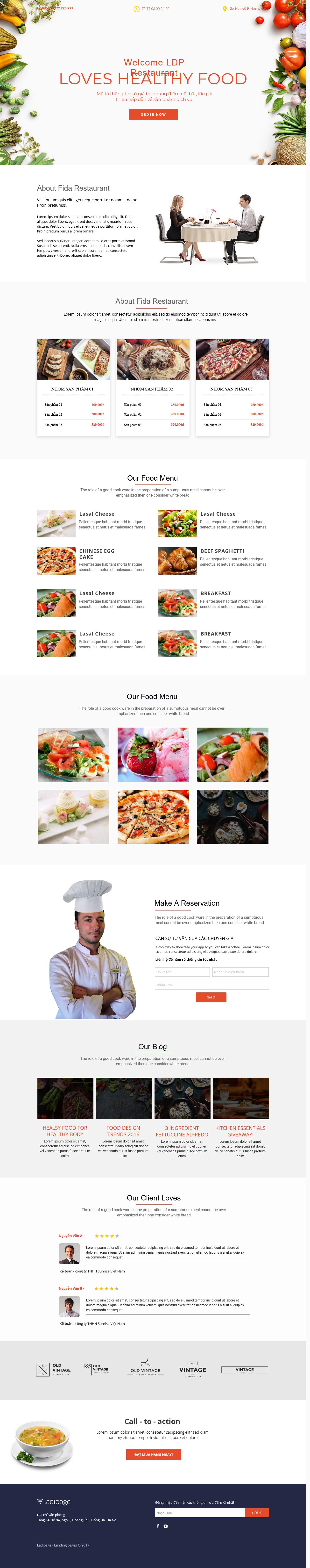 Thiết kế website Thiết kế webiste landingpage nha-hang---quan-an Nhà hàng quán ăn 13