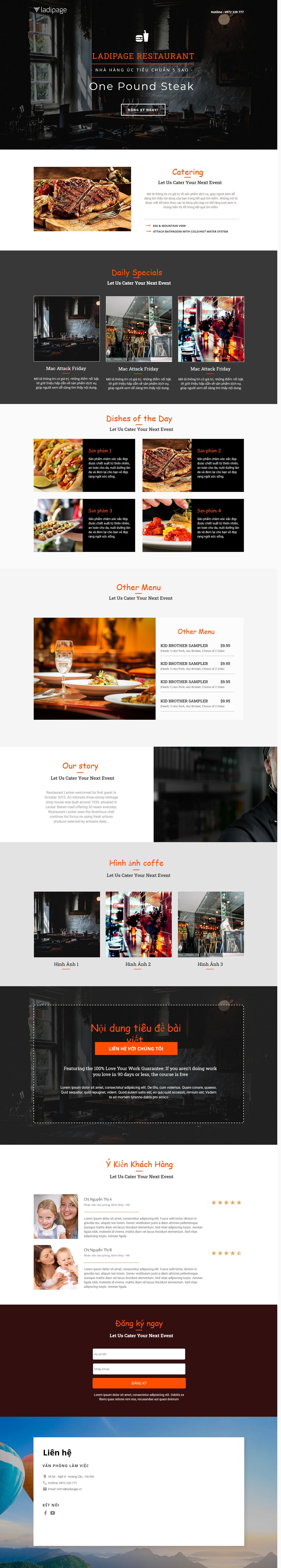 Thiết kế website Thiết kế webiste landingpage nha-hang---quan-an Nhà hàng quán ăn 16