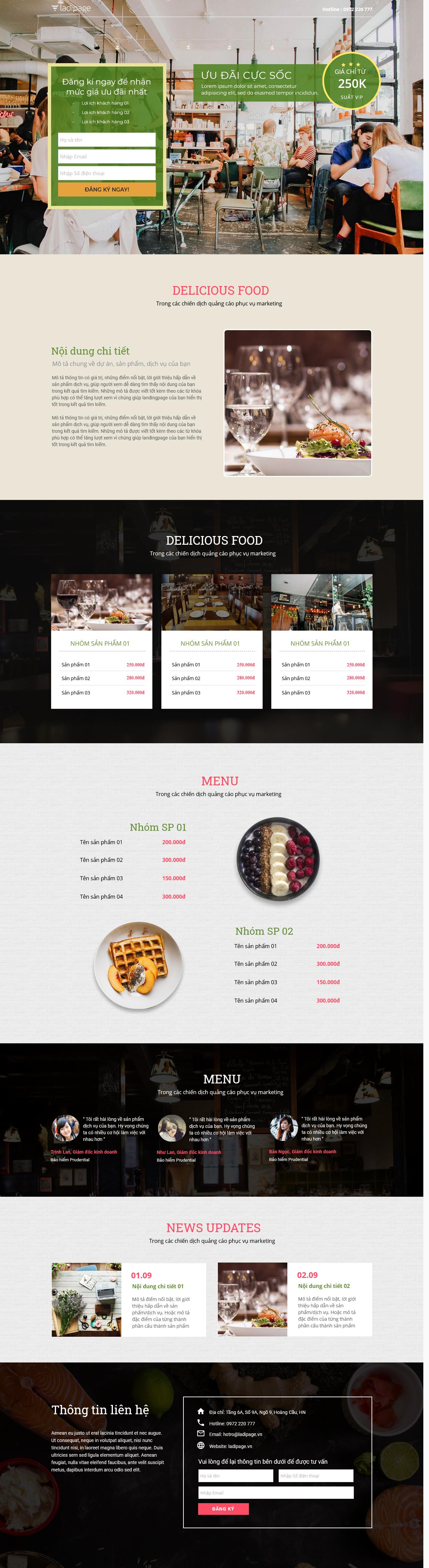 Thiết kế website Thiết kế webiste landingpage nha-hang---quan-an Nhà hàng quán ăn 24