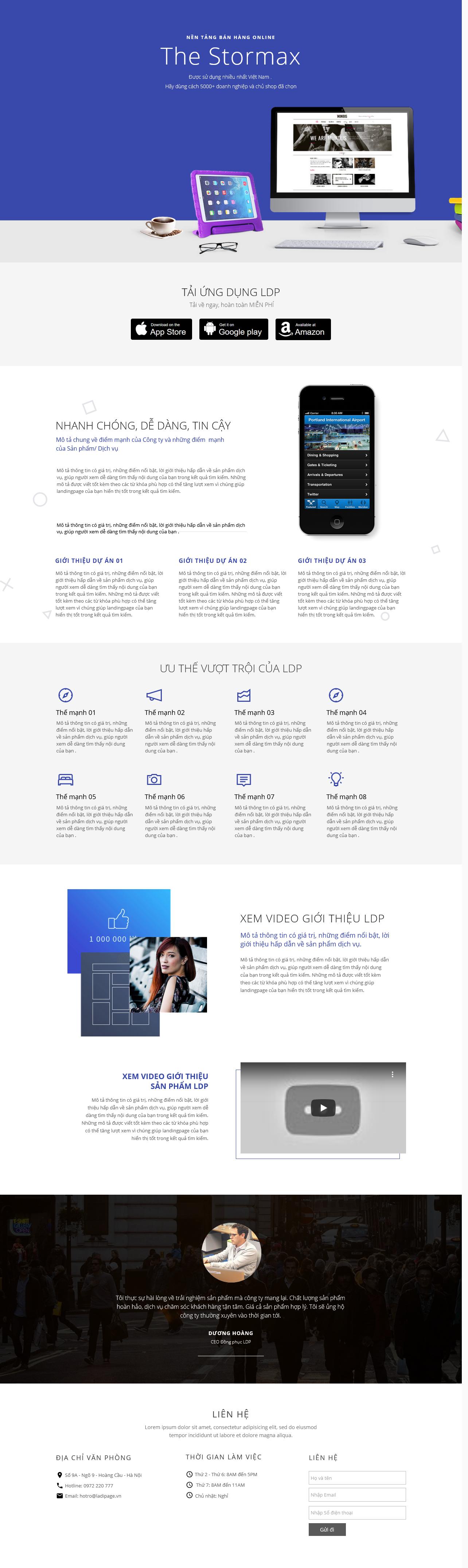 Thiết kế website Thiết kế webiste landingpage phan-mem---game---app Công nghệ 03