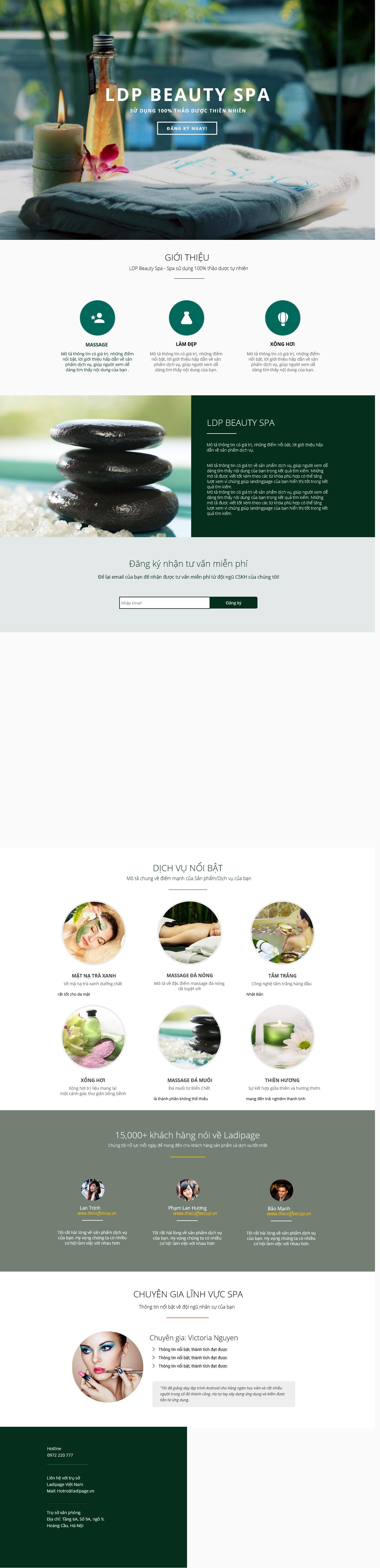 Thiết kế website Thiết kế webiste landingpage tham-my---spa---lam-dep Sức khoẻ - Làm đẹp 10
