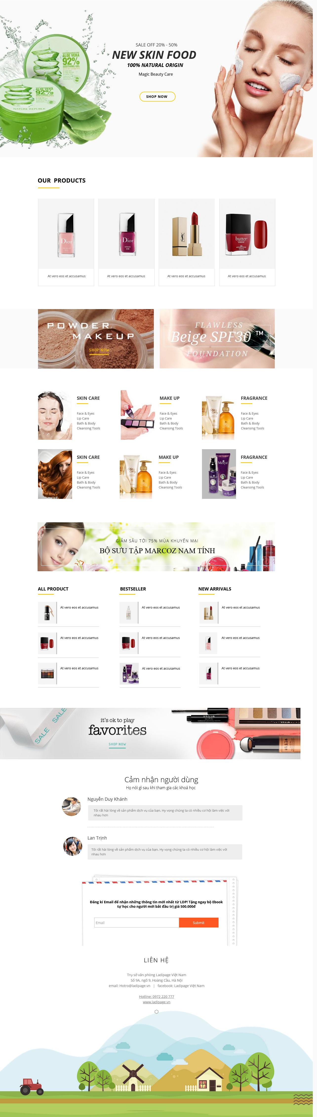 Thiết kế website Thiết kế webiste landingpage tham-my---spa---lam-dep Sức Khỏe Làm đẹp 15