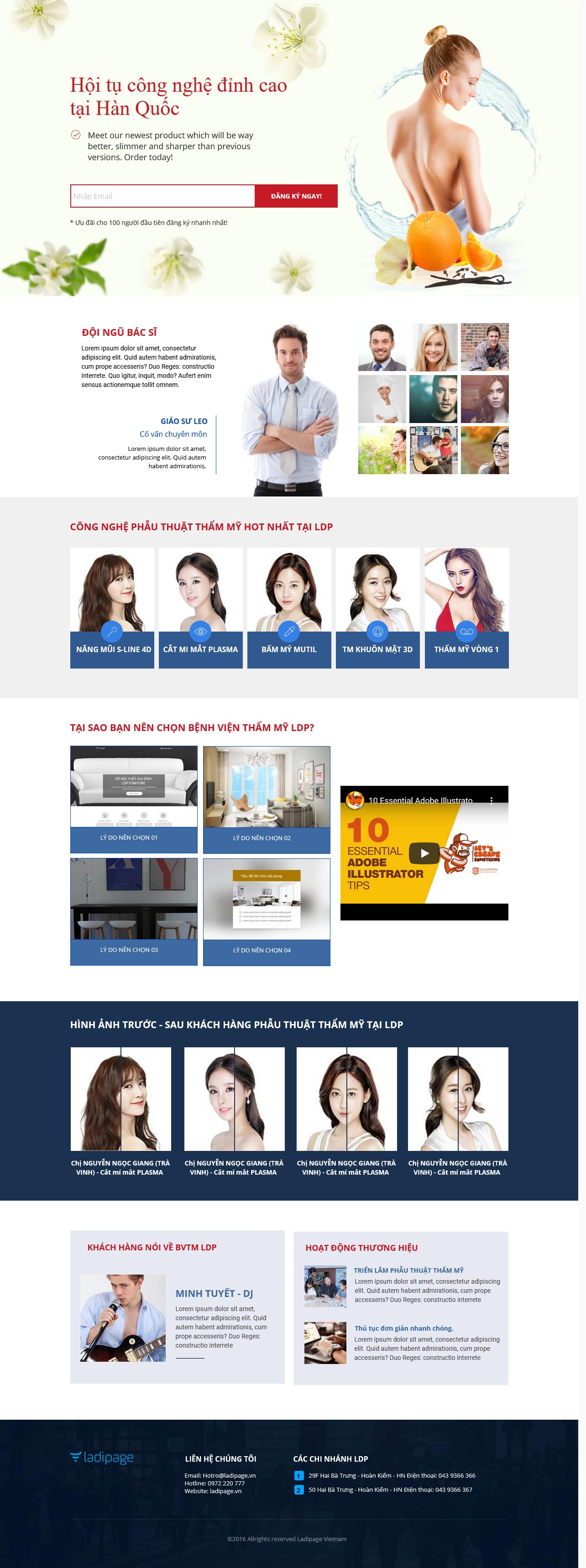 Thiết kế website Thiết kế webiste landingpage tham-my---spa---lam-dep Sức Khỏe Làm đẹp 20