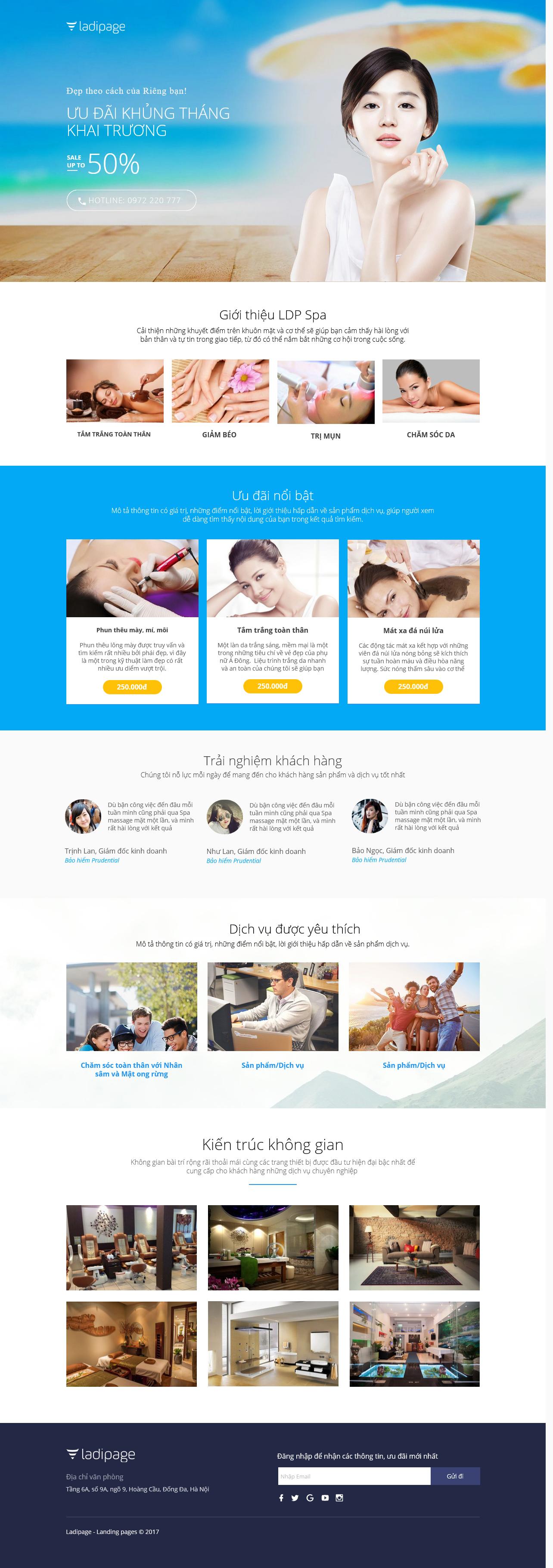 Thiết kế website Thiết kế webiste landingpage tham-my---spa---lam-dep Sức khỏe/làm đẹp 01