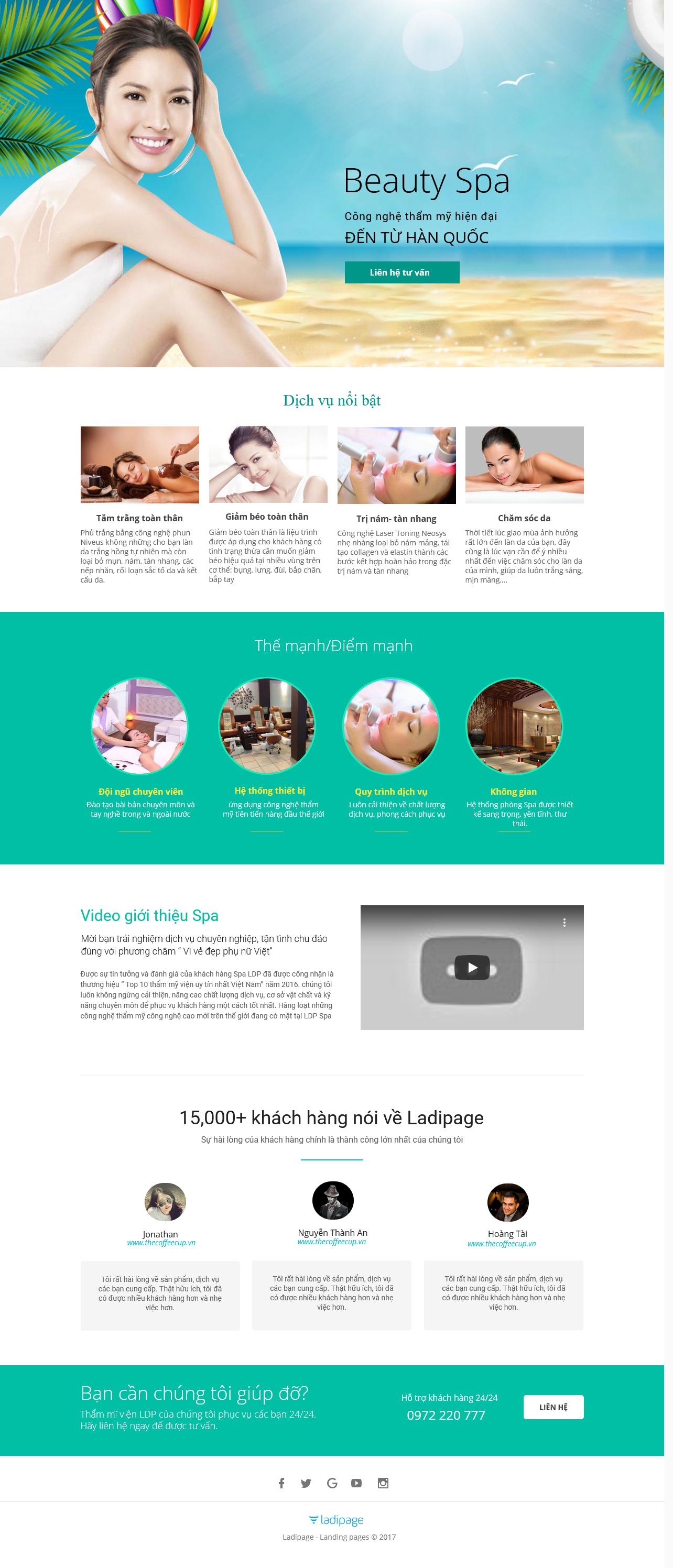 Thiết kế website Thiết kế webiste landingpage tham-my---spa---lam-dep Sức khỏe/làm đẹp 02