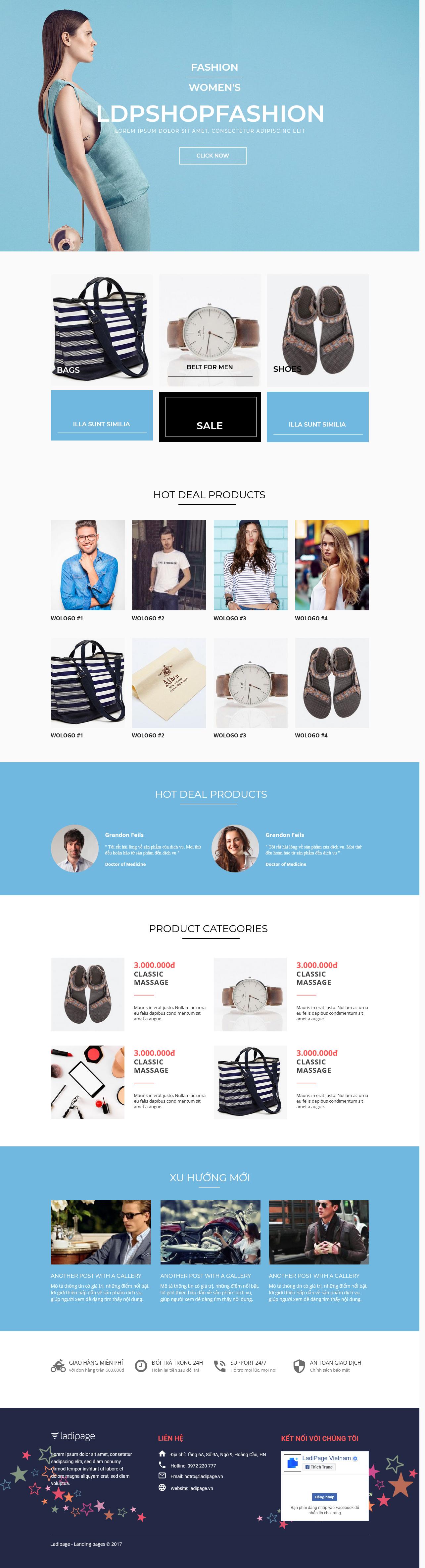 Thiết kế website Thiết kế webiste landingpage thoi-trang---phu-kien Thời trang phụ kiện 09