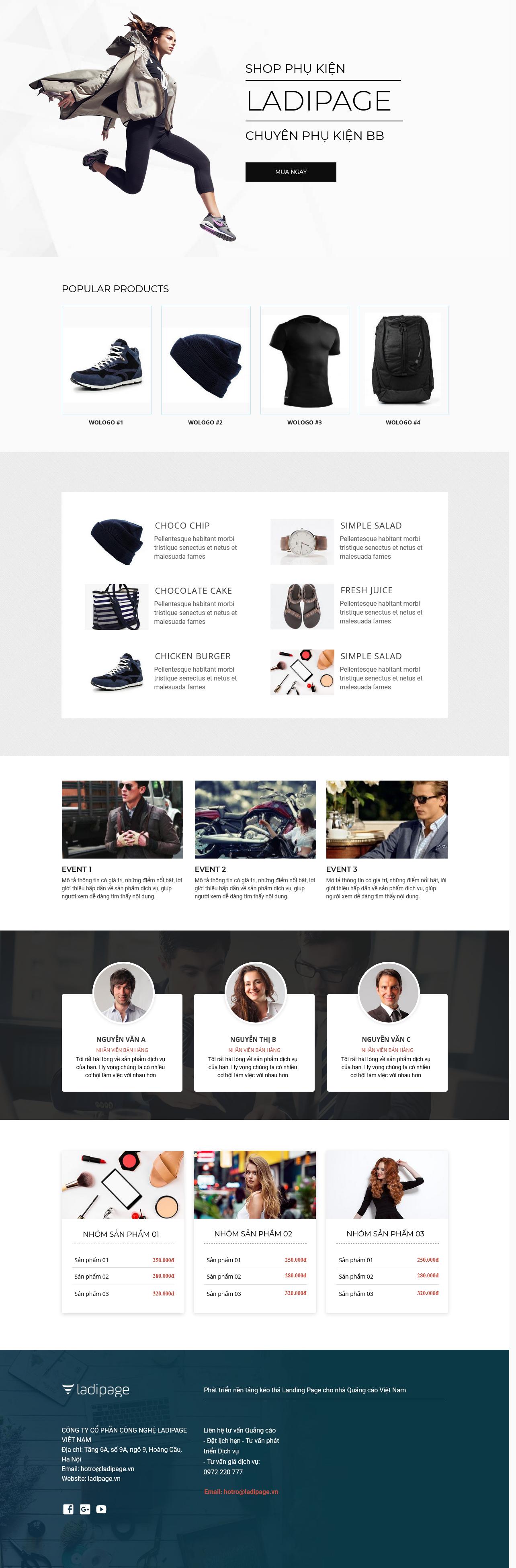 Thiết kế website Thiết kế webiste landingpage thoi-trang---phu-kien Thời trang phụ kiện 10